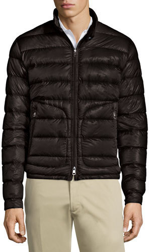 ... Moncler Acorus Quilted Nylon Puffer Jacket Black ...