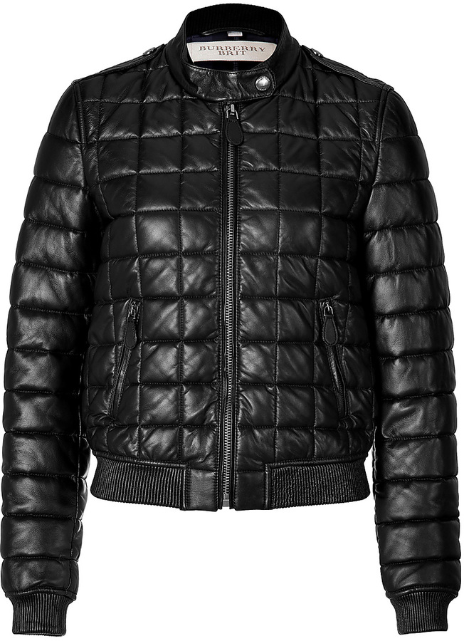 2f9403ffcf5 ... Burberry Brit Quilted Leather Boblington Bomber Jacket ...
