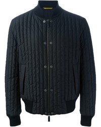 Canali Quilted Bomber Jacket