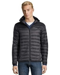 Hawke & Co Carbon Grey And Black Quilted Packable Down Jacket