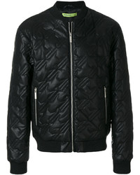 Versace Jeans Quilted Effect Bomber Jacket