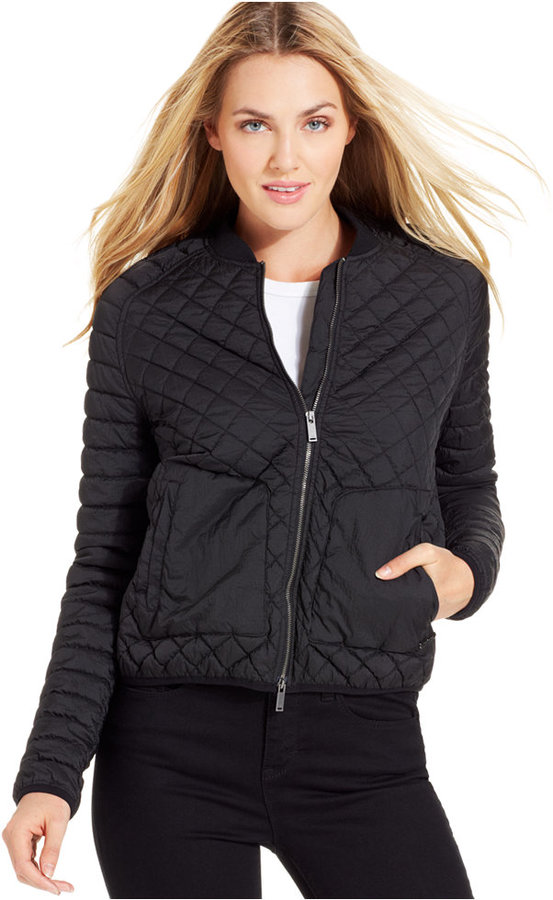 Calvin Klein Jeans Long Sleeve Quilted Bomber Jacket Where To Buy