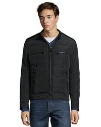 Andrew Marc Marc New York Black Quilted Polyfill Baxter Zip Front Jacket