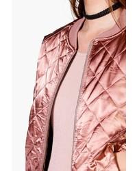 c62ea7e056c01 Boohoo Olivia Quilted Satin Bomber, $44 | BooHoo | Lookastic.com
