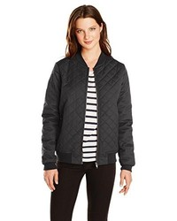 RVCA Juniors Mason Coated Canvas Quilted Bomber Jacket