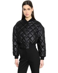 Stella McCartney Cropped Quilted Bomber Jacket
