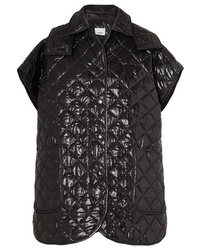 Burberry Appliqud Quilted Glossed Shell Cape