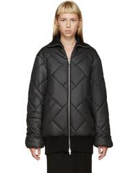 Maison Margiela Black Quilted Coat