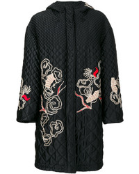 Ermanno Scervino Embroidered Quilted Coat