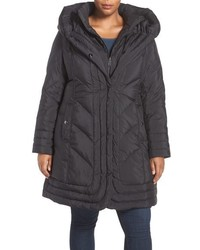 Gallery Plus Size Pillow Collar Quilted Walker Coat