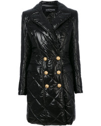 Balmain Quilted Double Breasted Coat