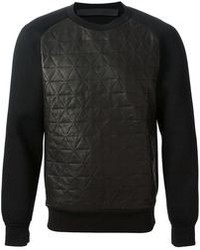 Quilted panel sweatshirt medium 81573