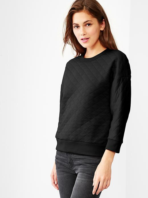 Gap Quilted Sweatshirt   Where to buy & how to wear : quilted sweatshirt - Adamdwight.com