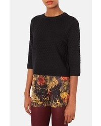 Topshop Hexagon Quilted Top Black 4