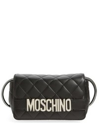 Moschino Letters Quilted Crossbody Bag Black