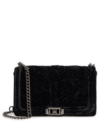 Rebecca Minkoff Love Velvet Quilted Crossbody Bag Black