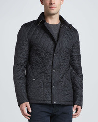 Black Quilted Field Jacket