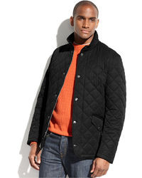 Perry Ellis Jacket Quilted Corduroy Collar Performance Jacket