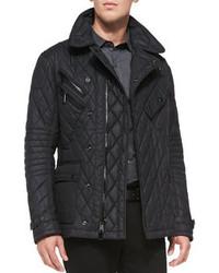 Ralph Lauren Lp Luen Blcklbel Quilted Nylon Jacket Black