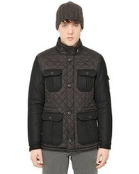 Armani Jeans Quilted Nylon Flannel Puffer Jacket