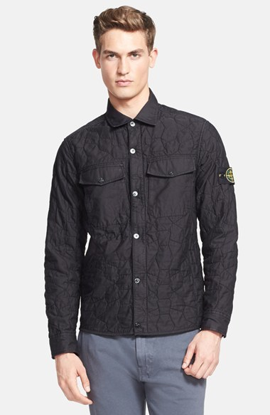 46e3186a84 Stone Island Quilted Shirt Jacket
