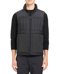 Theory Arne Regular Fit Tissue Nylon Quilted Down Vest