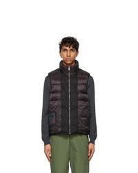 Ten C Black Down Liner Vest