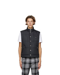 Dolce and Gabbana Black Nylon Logo Vest