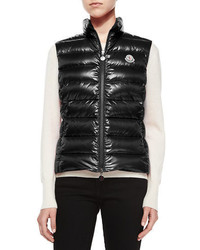 Ghany shiny quilted puffer vest medium 5267194