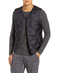 Wings + Horns Quilted Nylon Down Vest