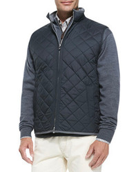 Quilted potomac vest black medium 86255