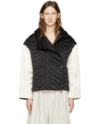 Black and white quilted hector jacket medium 1250390