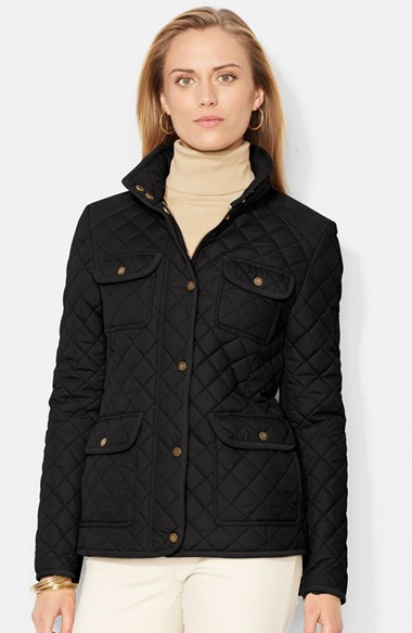 Lauren Ralph Lauren Corduroy Trim Quilted Barn Jacket Where To Buy