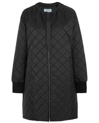 Prada Quilted Shell Down Jacket Black