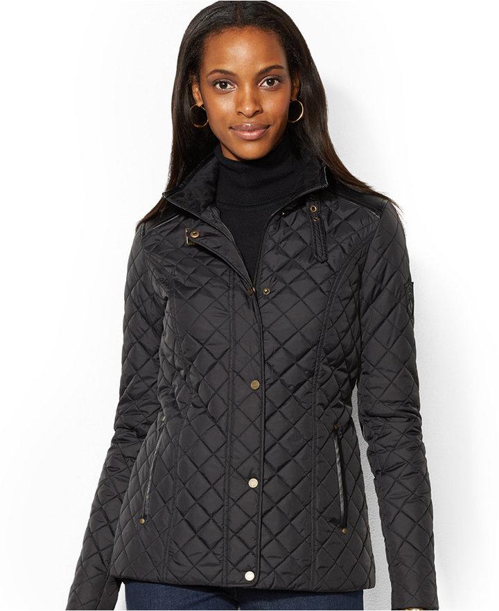 7f4e3ef801e6 Lauren Ralph Lauren Quilted Snap Front Equestrian Jacket, $200 ...