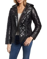 Reversible packable asymmetrical quilted jacket medium 4913476