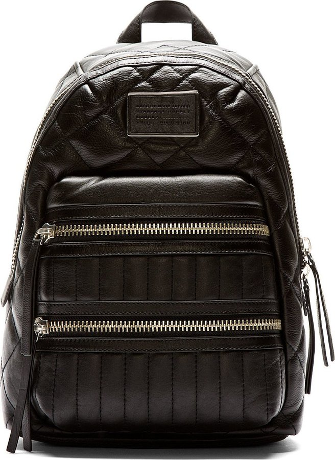 Marc by Marc Jacobs Black Quilted Leather Domo Biker Backpack ... : leather quilted backpack - Adamdwight.com