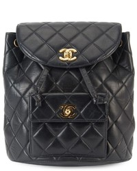 Chanel vintage quilted chain backpack medium 519460