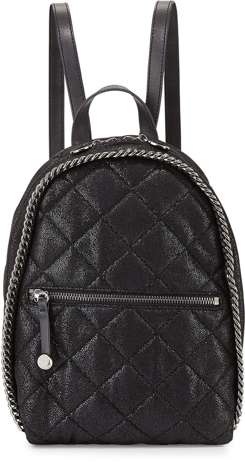 Stella McCartney Mini Falabella Quilted Backpack Black | Where to ... : leather quilted backpack - Adamdwight.com