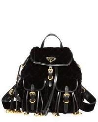 Prada Quilted Velvet Mini Backpack