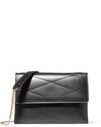 Lanvin Sugar Mini Quilted Leather Shoulder Bag Black