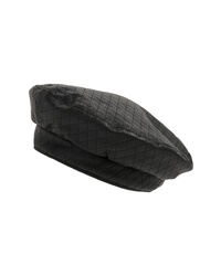 Leith Quilted Faux Leather Beret