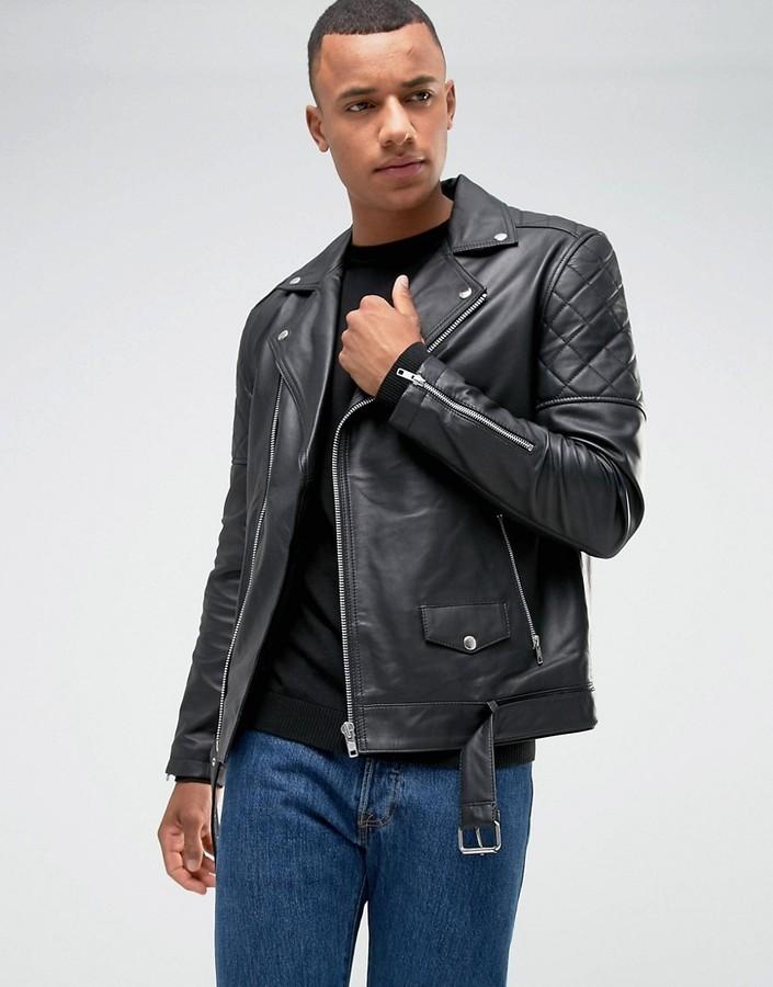 1684ce551 $190, Barneys Originals Premium Leather Biker Jacket
