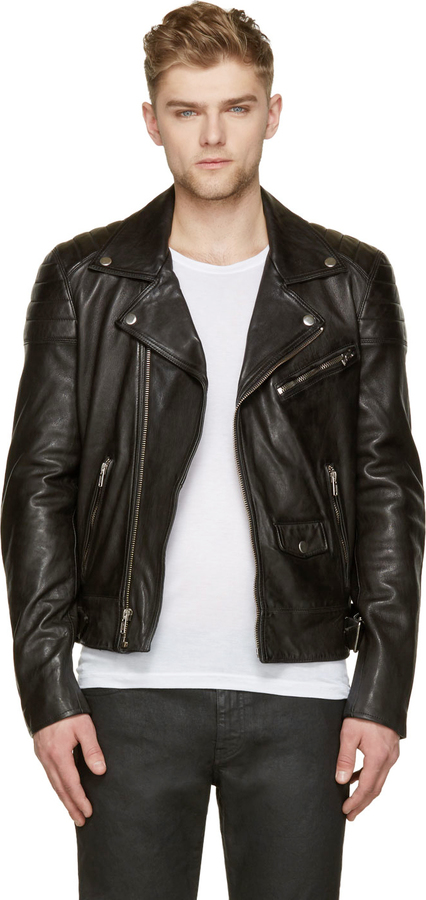 BLK DNM Black Leather Quilted Biker Jacket | Where to buy & how to ... : leather quilted biker jacket - Adamdwight.com