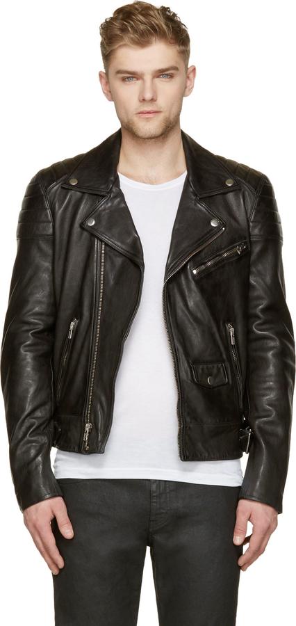 BLK DNM BLK DNM Black Leather Quilted Biker Jacket | Where to buy ... : leather quilted biker jacket - Adamdwight.com