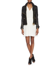 Burberry Brit Remmington Lamb Leather Biker Jacket