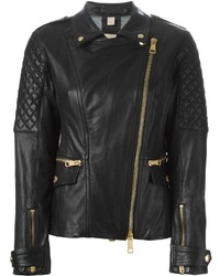 Burberry Brit Quilted Sleeve Biker Jacket