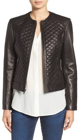 Cole Haan Cole Haan Quilted Leather Moto Jacket Where To Buy How