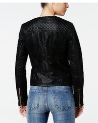 b604f9d42a5 GUESS Geonna Quilted Faux Leather Moto Jacket, $128 | Macy's ...