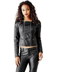 GUESS Quilted Faux Leather Jacket
